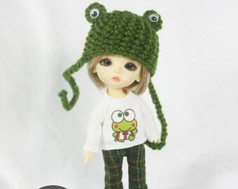 Lati yellow / Pukifee outfits (T-shirt , pants and frog hat)