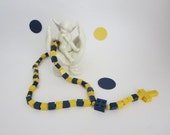 Lego Rosary Dark Blue and Yellow - Catholic Kid Rosary in Dark blue and Yellow