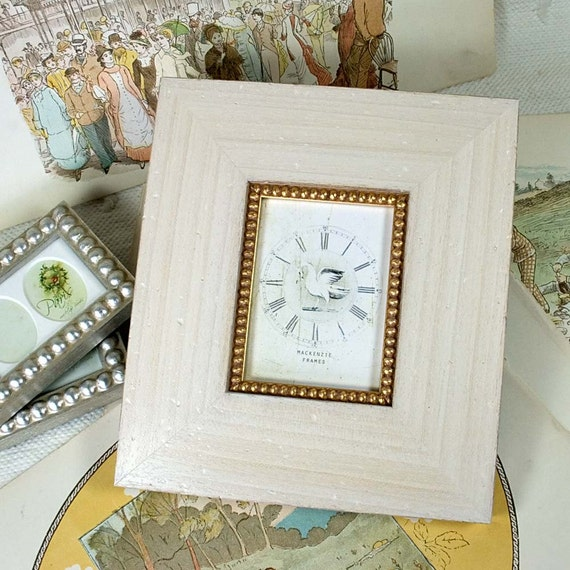 4x5in warm white with gold boule slip cottage style frame for Bungalow style picture frames
