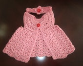 Adorable Flutter Crochet Vest Gerbera Daisy Color With Matching Headband With Flower Size 0-3 Months