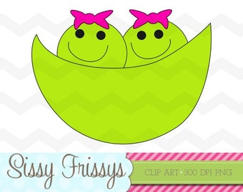 INSTANT DOWNLOAD - Personal Use - Commercial Use - Digital Embellishment - Digital Art - Two Peas in a Pod Clipart - Scrapbooking - 98715751