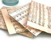 Vintage Music Sheet Paper Heart Confetti, Choral Paper Hearts, Wedding Confetti, Craft Confetti,