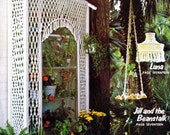 Vintage Macrame Patterns Retro Home Decor Pattern Designs Hanging Table Planters Vessels Lamp Greenhouse Room Accessories PDF eBook Download