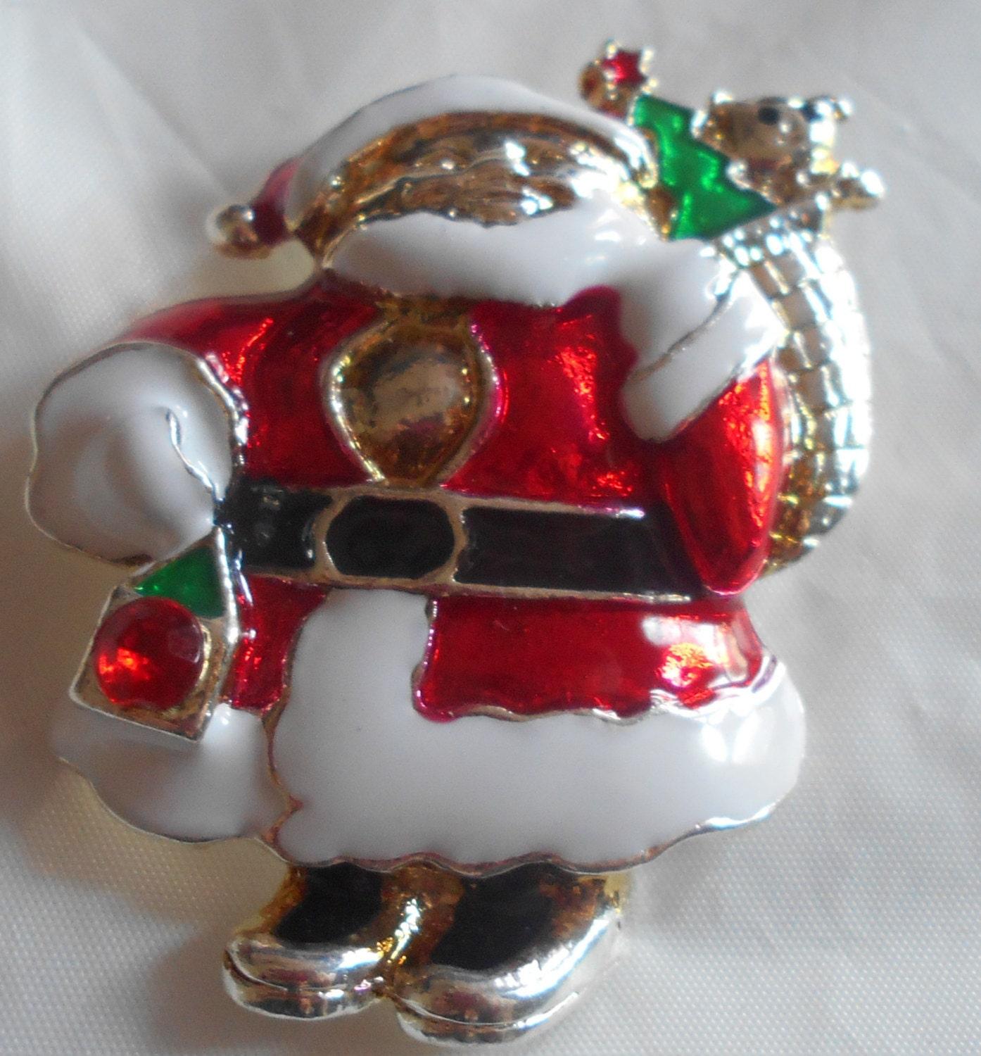 vintage light up santa pin eBay