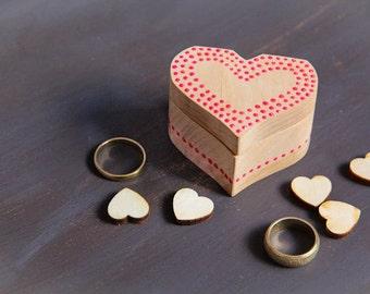 Dots Wedding Ring Bearer Box - Handmade eco rustic Pillow Alternative