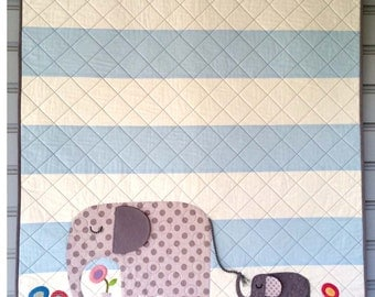 E is for Elephant II Quilt Kit