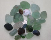 AWESOME BEACH GLASS Campfire Bonfire glass in very cool shapes and colors  zy965