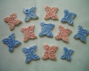 12T - MEHNDI Inspired BUTTERFLY Tiles - Ceramic Mosaic Tiles