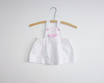 Vintage White Hearts Baby Dress