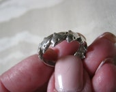 Vintage sterling silver dolphin ring, size 6 jumping dolphins ring