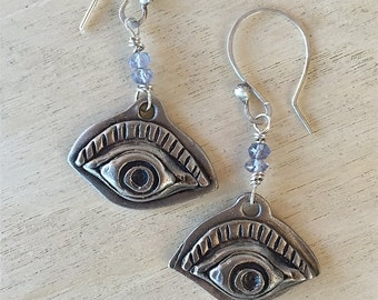 Handmade Milagros Copprclay eyes