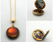 Vintage Locket Necklace Customize with your Photographs Custom Picture Placement Inside Lockets Personalized Jewelry Unique Gift Photos Pic