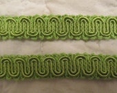 "Vintage Trim 5 yards x 5/8"" wide Lime Green SALE"