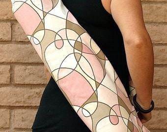 CARNIVAL Yoga Mat Bag Yoga Mat Tote Yoga Bag Yoga Tote Yoga Sling Yoga Sac Yoga Sack, Handmade, Pink