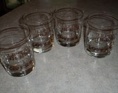 set of 4 Houze glass Lefties are Better Lovers vintage barware rock glasses tumblers