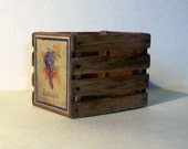 Miniature Zinfandel Wine Crate  1:12 scale