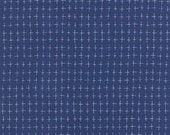 Fabric - The Sweet Life By Pat Sloan for Moda - Navy Blue with White Blender Print - 43056-20 - Yardage