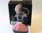 Unused Vintage Pyrex Glass Wine Decanter or Carafe with Cork Ball Stopper 8010 Orig. Box
