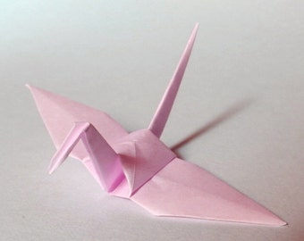 100 Small Origami Cranes Origami Paper Cranes Paper Cranes - Made of 7.5cm 3 inches Japanese Paper - Sakura Pink