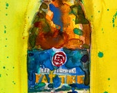 Fat Tire Amber Beer - New Belgium Brewing Art Print Watercolor (Print Size 8.5 x 11) or (Print Size 10 x 20)