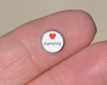 1 Memory Locket I Love Camping Charm FL474