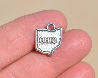 5 Silver State of Ohio Charms SC2715