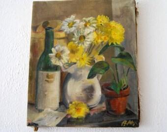 Vintage Painting, Still Life, Garden