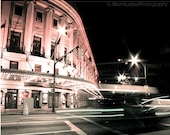 Eastman Theatre at Night, Night Photography, Rochester Photography, Rochester NY, New York, motion blur, pink pastel, urban decor
