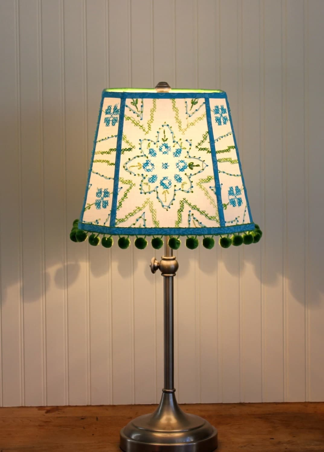 sale lamp shade bohemian embroidered lamp shade by sassyshades. Black Bedroom Furniture Sets. Home Design Ideas