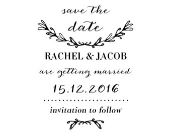 Laurel Save the Date Stamp