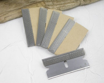 4 Single Edged Razor blades for crafters to cut, chop, slice, dice, scrape, and trim any clay, wood, or plastic