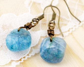 Drops of tranquility earrings - kyanite (BA)