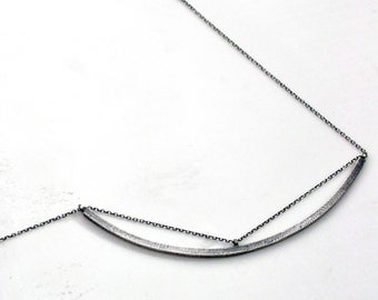 Eyelet Necklace…sterling silver bark texture chain path