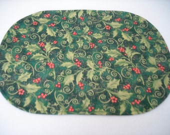Christmas holly placemat