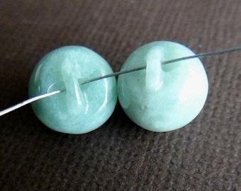 35% OFF Greenish Jadeite carved focal bead