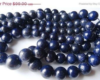 35% OFF Natural Blue Sapphire smooth round bead