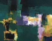 Small Box Painting 1109 - Original Oil Painting - 22.7 cm x 22.7 cm (app. 8.9 inch x 8.9 inch)