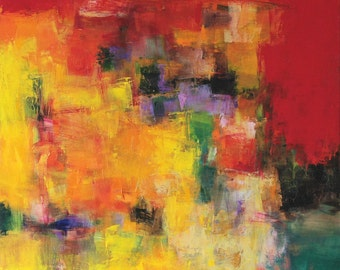 July 2015 - 2 - Original Abstract Oil Painting - 72.7 cm x 72.7 cm (app. 28.6 inch x 28.6 inch)