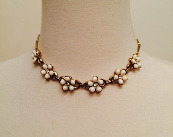 Vintage Rhinestone and Celluloid Choker Necklace