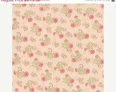 SALE Whitewashed by 3 sisters for Moda Daisy Sprays on Pink