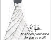 GIFT CARD for (1) Custom Bridal Gown Illistration