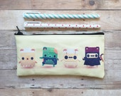 Scary Bears Alphabear Small Zipper Pouch