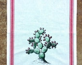EL NOPAL - cactus tea towel hand silk screened