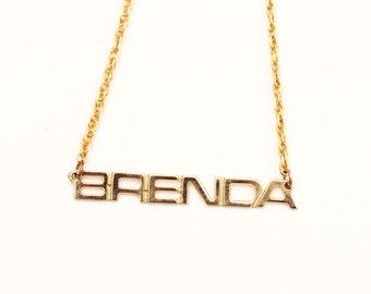 Vintage Name Necklace - Brenda