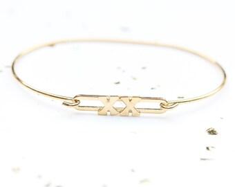 Gold XX Bracelet