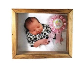Shadow Box - Fits 8 x 10 Photo - Picture Frame Box - Glass Display Case - Keepsake Shadow Box