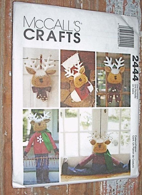 Mccalls Crafts 2444 Uncut Pattern Santas Reindeer By