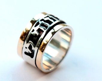 Personalize Ring message Hebrew love verse ring Prayer rings Ani le Dodi