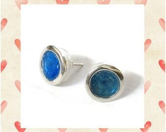 Roman glass stud earrings. Sterling silver earrings Roman glass jewelry
