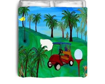 Golf comforter from my art